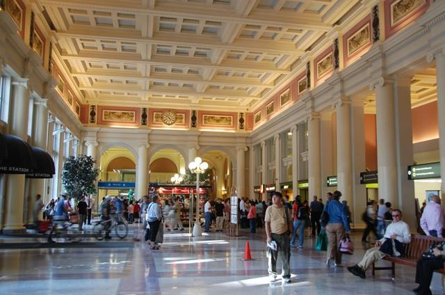 Inside Pacific Central Station